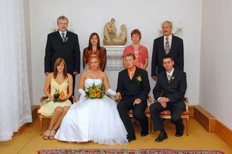 S rodinou a svědkama