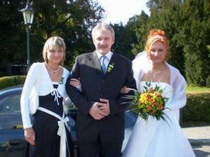 S tatínkem a sestřičkou