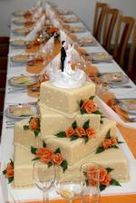 Svatební tabule a dort