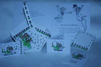 košíčky, pozvánka na raut aj.- ráda kreslím :-)