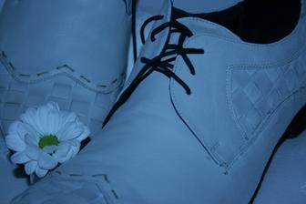 svatební boty budoucího manžela :-)