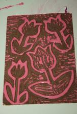 vyrytá forma na tisk dekorace :-)