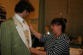 maminka šila oblek :-)