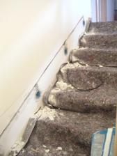začínáme kutat světýlka pro schody...