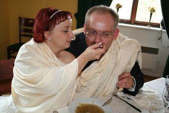 při polévce - jen papej