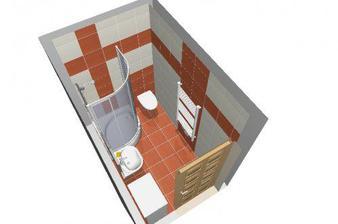 můj návrh dolní koupelny
