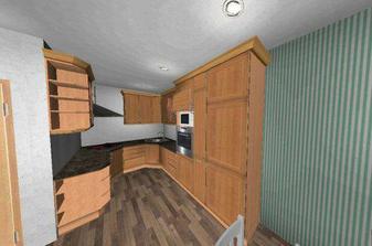 návrh kuchyně - rozmístění spotřebičů