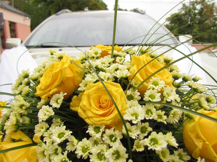 Markéta Kristen{{_AND_}}Pavel Kristen - kytice na autě nevěsty