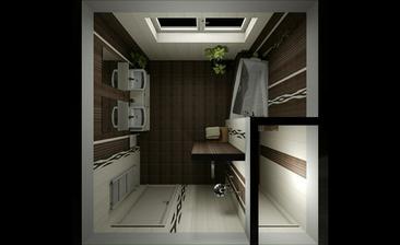 vizualizace koupelny a wc