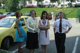moje zdravotáčky Lucka, Monika,Majka a jej manžel Janči