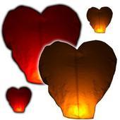 Lampiony - srdce -  sada 20ks,