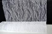 Organza s penovým vzorom - 39cm / 5m - biela,