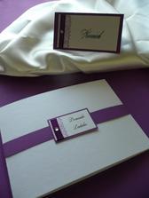 Svatební oznámení a jmenovky na svatební stůl - ruční práce