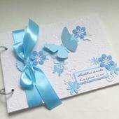 Svatební kniha světle modrá,