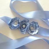 Saténový pásek světle modrý, 38