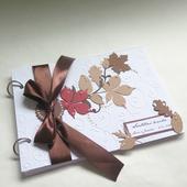 Svatební kniha listy stromů,