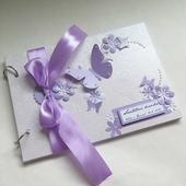 Svatební kniha lila,