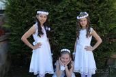 Biele krajkované šaty , 146