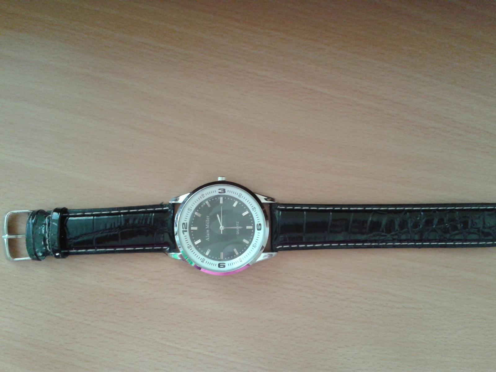 Černé pánské hodinky Alain Miller - Obrázek č. 2
