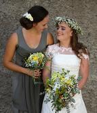 Líčila i česala jsem nevěstu i svědkyni. Foto mé amatérské bez retuší....