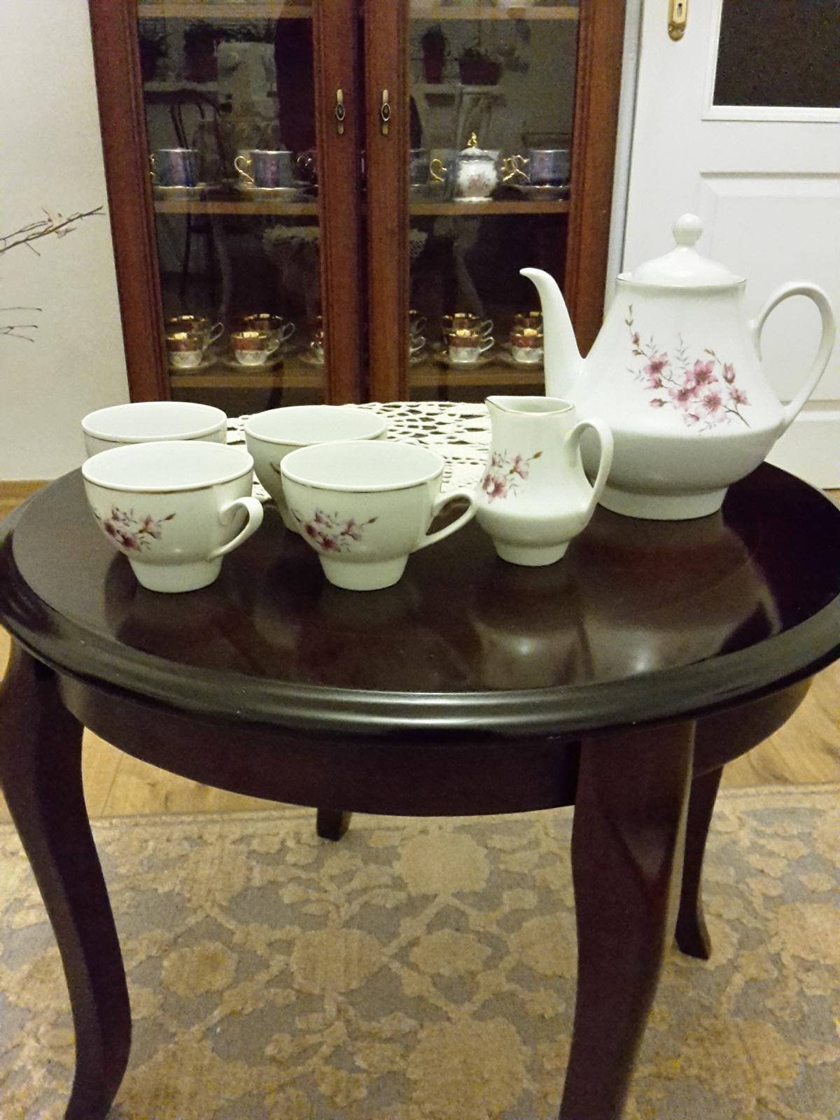 Porcelánový čajník, džbánik,cukornička, 5salok. - Obrázok č. 1