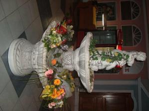 tato fontana zdobila nasu svadobnu hostinu uprostred saly