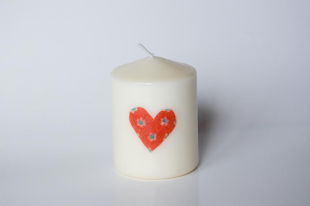 Svíčka se srdíčky - Obrázek č. 2