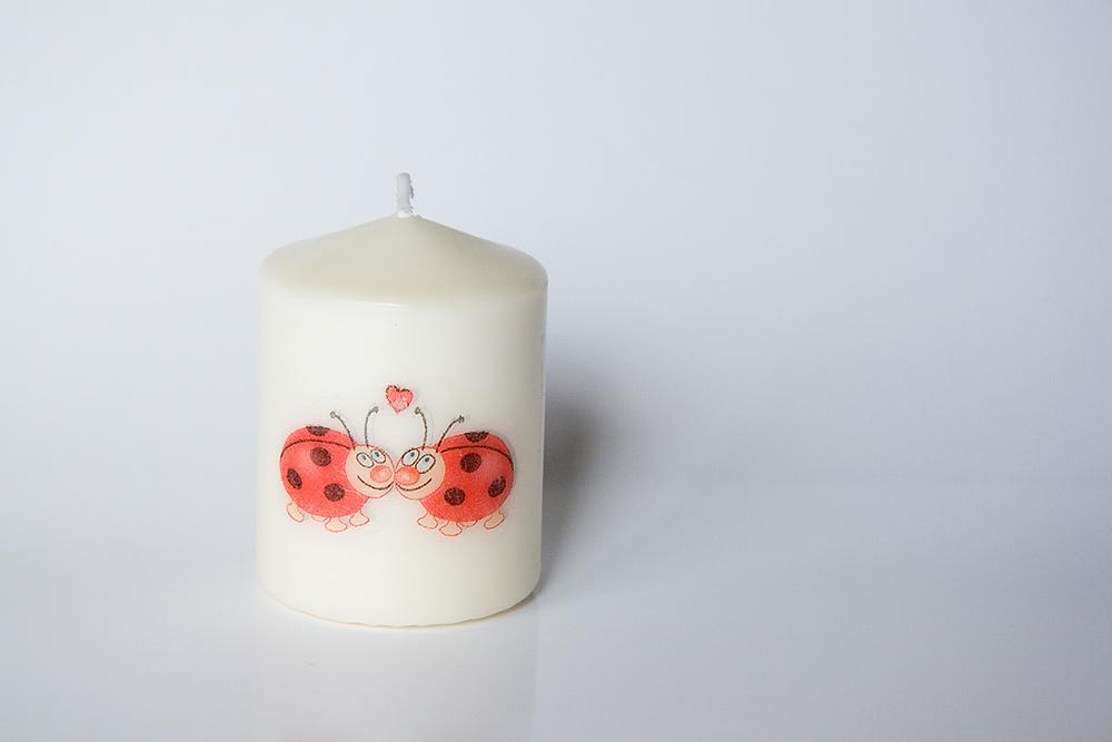 Svíčka se zamilovanými beruškami - Obrázek č. 1