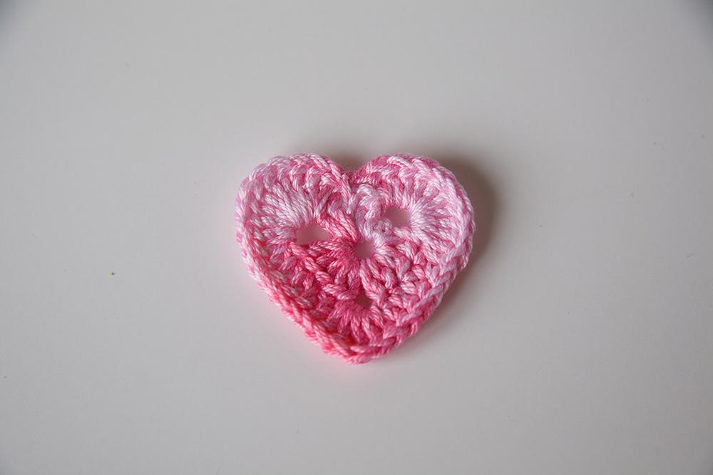 Háčkované srdce - Obrázek č. 1