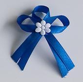 Modré svatební vývazky,