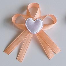 Meruňkové svatební vývazky se srdíčkem - Obrázek č. 1