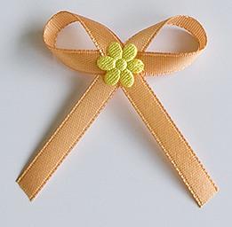 Bronzové svatební vývazky se žlutou kytkou - Obrázek č. 1
