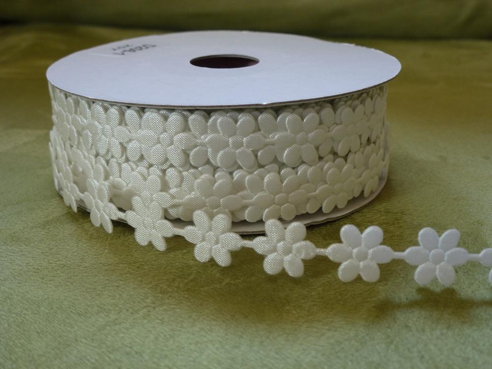 Prýmek saténový květ 10 mm - Obrázek č. 1