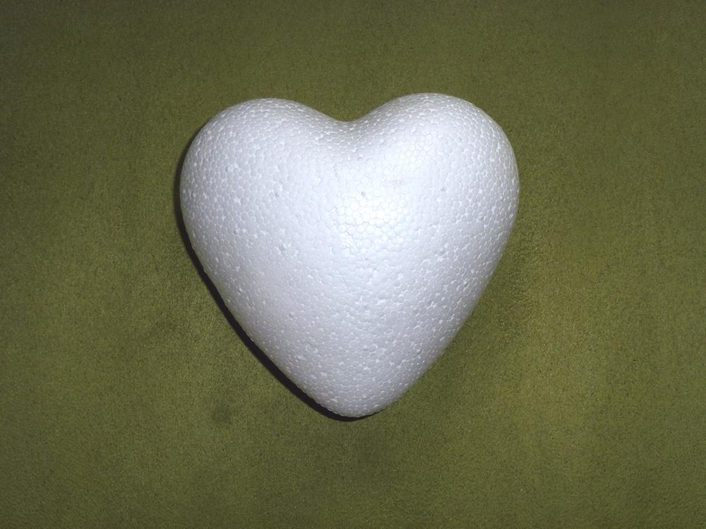 Polystyrenové srdce bachraté 8 cm - Obrázek č. 1