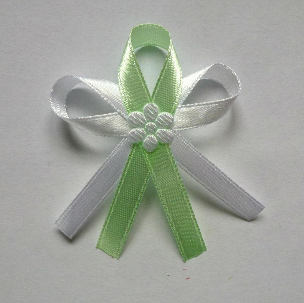 Jablíčkově zelené svatební vývazky - Obrázek č. 1