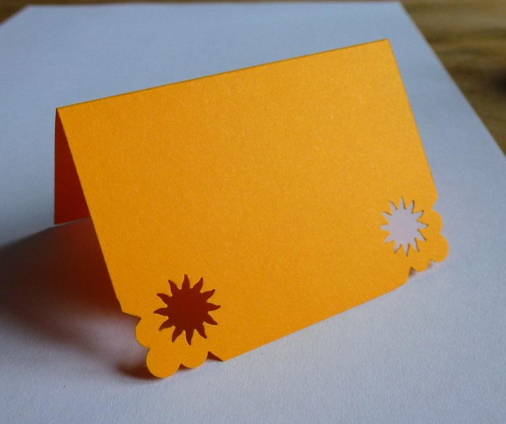 Oranžové jmenovky se sluníčkem - Obrázek č. 1