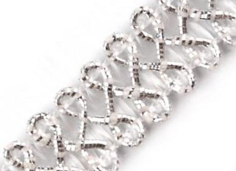 Prýmek stříbrný - šíře 10 mm - Obrázek č. 1