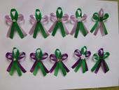 Fialovo-zelené vývazky,