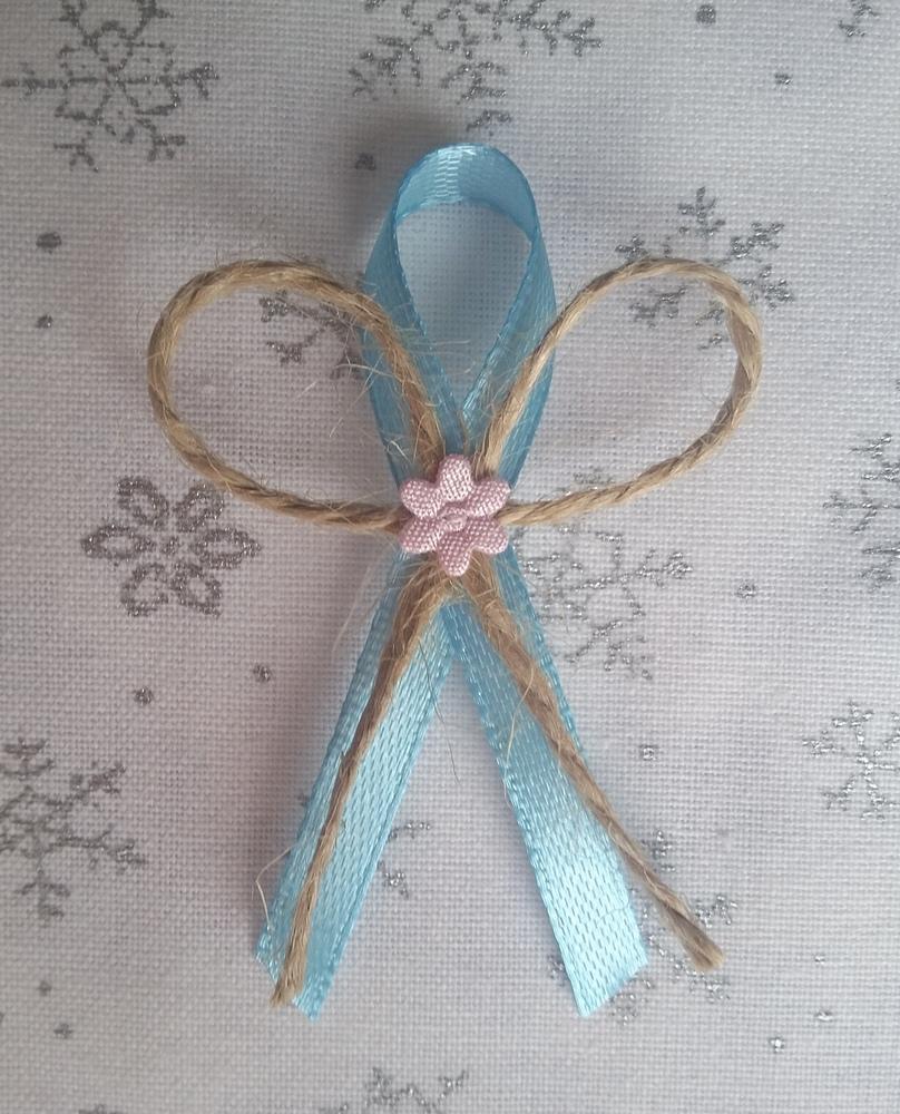 Přírodní modrý svatební vývazek - Obrázek č. 1