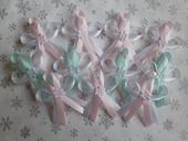 Růžové a mátové svatební vývazky,