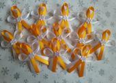 Oranžové svatební vývazky,