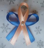 Meruňkovo-modré svatební vývazky,