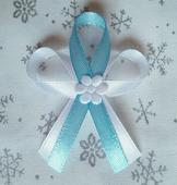 Světle modré svatební vývazky,