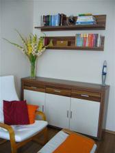 nová knižnica v obývačke