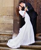 Svadobné šaty snehovo biele, 38