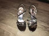 Stříbrné páskové boty, vel. 38, 38