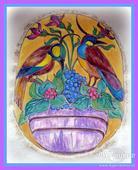 Malovaný dvoubryndák ve stylu A.Muchy,