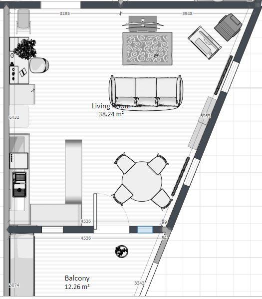 Ahoj, vymýšlíme rozmístění nábytku... - Obrázek č. 1