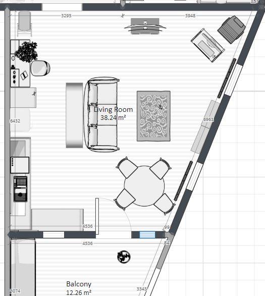 Ahoj, vymýšlíme rozmístění nábytku... - Obrázek č. 2
