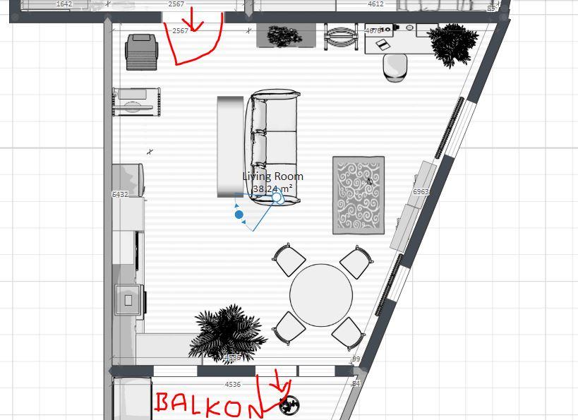 Ahoj, vymýšlíme rozmístění nábytku... - Obrázek č. 4